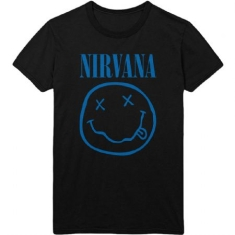 Nirvana - Nirv ana Unisex Tee : Blue Smiley