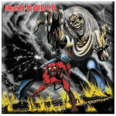 Iron Maiden - Iron Maiden Fridge Magnet: Number Of The Beast