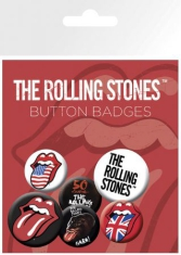 Rolling Stones - Lips button badges 6 st